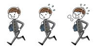 男子学生:走る、セット、バリエーション