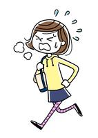 女の子:走る