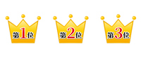 グラフィック素材:王冠、セット