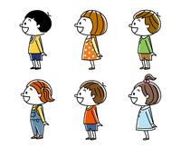 子供たち:男の子と女の子、横向き