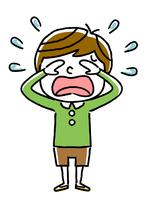 男の子:悲しい、涙、泣く