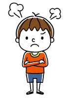 男の子:怒る
