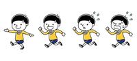 男の子:歩く、走る