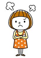女の子:怒る