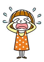 女の子:悲しい、涙、泣く
