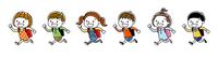 子供たち:走って通学する