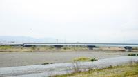 河川敷と鉄橋