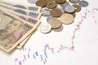 株価のチャートとお金