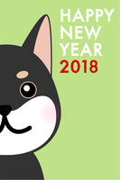 年賀状2018 いぬ