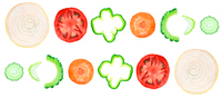 輪切り野菜の切り口