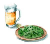 ジョッキビールと枝豆