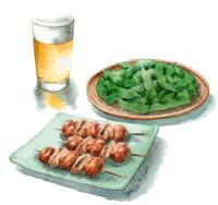 ビール枝豆焼き鳥