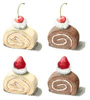 ロールケーキ4種