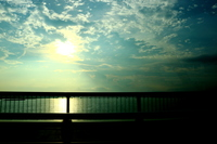 夕焼け空と吉野川