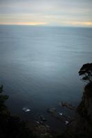 夕暮れの江ノ島の風景