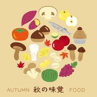 秋の味覚 アイコン