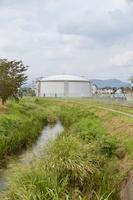南部浄水場の配水池