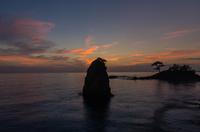 立石海岸の夕景