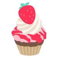 ストロベリーカップケーキ