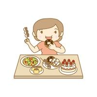 摂食障害 過食症の女性