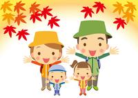 秋 喜びいっぱい家族