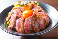 高級国産牛ステーキ丼