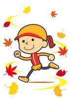 スポーツの秋 爽やかに走るお姉さん