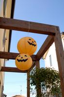 ハロウィンを飾る家