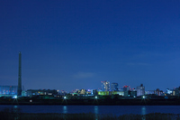 四ッ木より望む川と街明かり 夜景