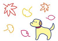 秋の彩り 犬