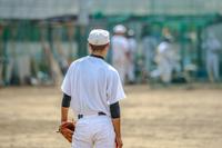 高校球児の練習風景