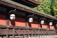 京都 北野天満宮 社殿の釣灯篭