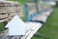 白い家の模型