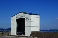 海沿いのバス停