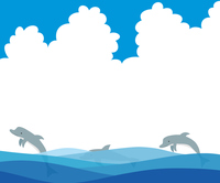 Illustration of a dolphin to jump