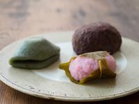 桜餅と草餅とおはぎ