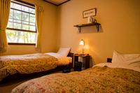 ペンションの寝室