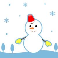 冬イメージ 雪だるま
