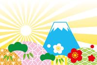ご来光 富士山 テンプレート