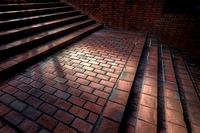 赤煉瓦の階段