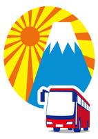 新年 富士山をバスで観光