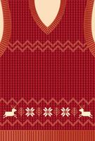 ニット編みのベストのフレーム素材