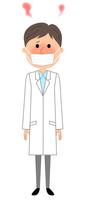 白衣の男性 発熱