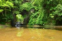 新緑の濃溝の滝