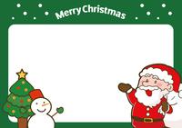 サンタクロースのクリスマスカードイラスト(A4サイズ)