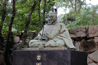 山口県萩市 毛利輝元公銅像