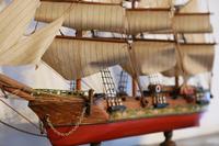 帆船の飾りの置物