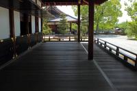 京都 大覚寺 寝殿の廊下