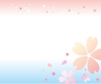 桜の背景とタイトルバック