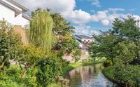 京都伏見の水辺の風景